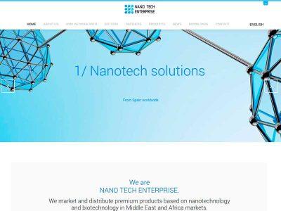 Traducción de contenidos y textos legales de la web corporativa para NANO TECH ENTERPRISE